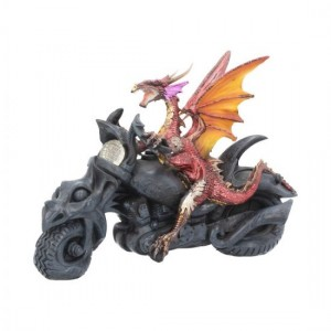 Born To Ride Figurine Red Dragon Biker Motorcycle Ornament